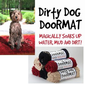 Dirty Dog Doormat Soaks Up Water, Mud U0026 Dirt
