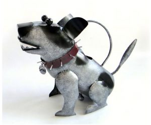 spike dog watering can
