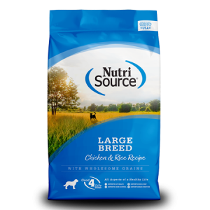 Save on NutriSource Large Breed Dog Food in October 2020, at Wells Brothers Pet, Lawn & Garden Supply.