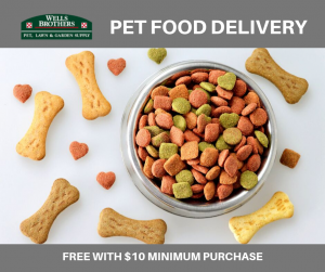 Pet Food Delivery at Wells Brothers Pet, Lawn and Garden Supply in Plano, Texas.